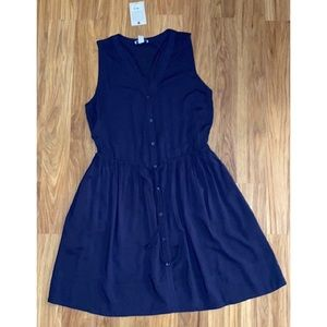 G H Bass M Sleeveless shirt dress Drawstring waist